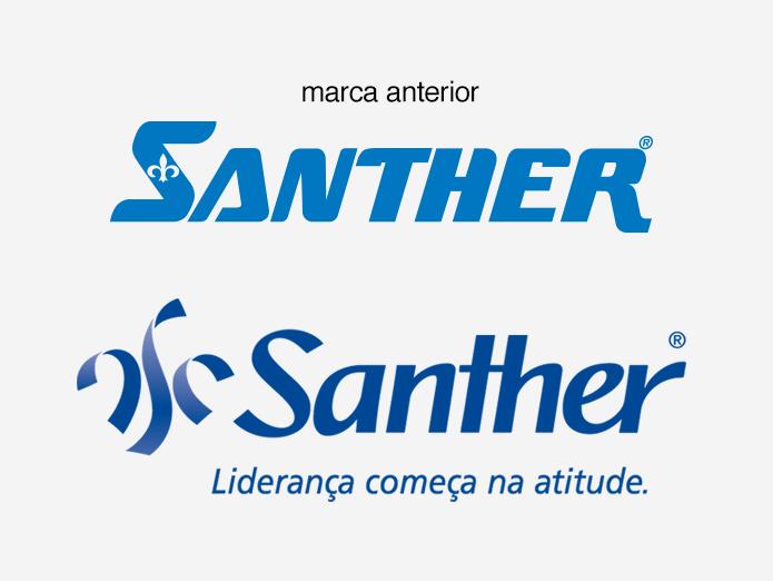 Santher_Novo Logo_Comparativo_M Design